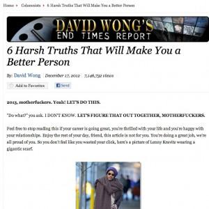 David Wong's story