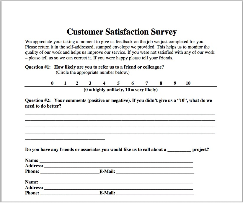 A Simple (And Easy-To-Implement) Customer Satisfaction Survey